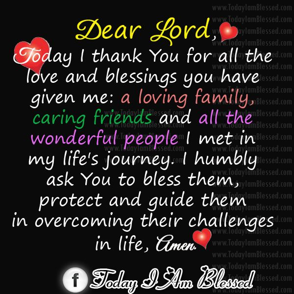 Thank You God Quotes Today I Thank You Lord For All The Love And Blessings You Have For .