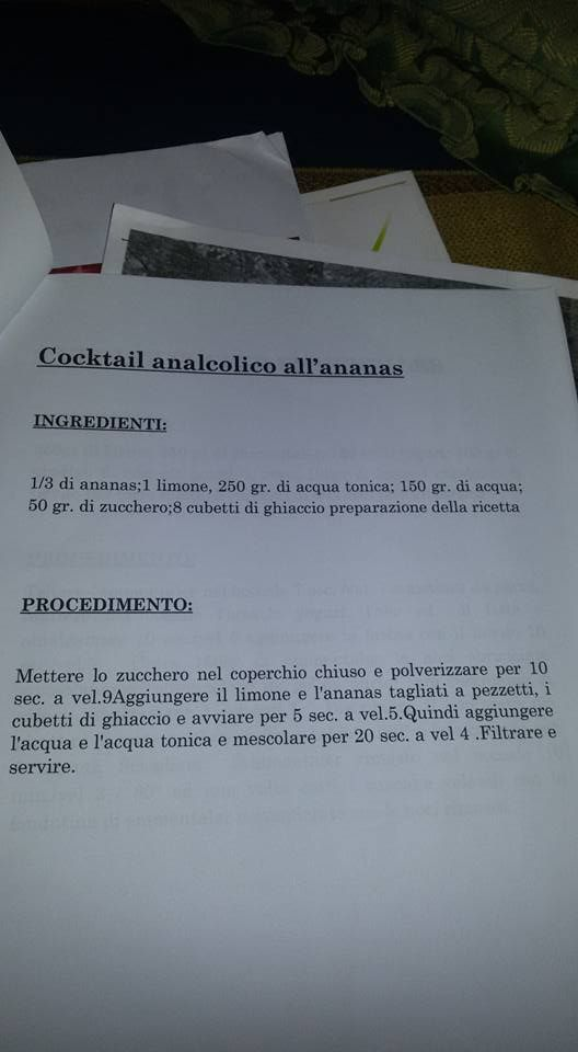 cocktail analcolico all'ananas Bimby