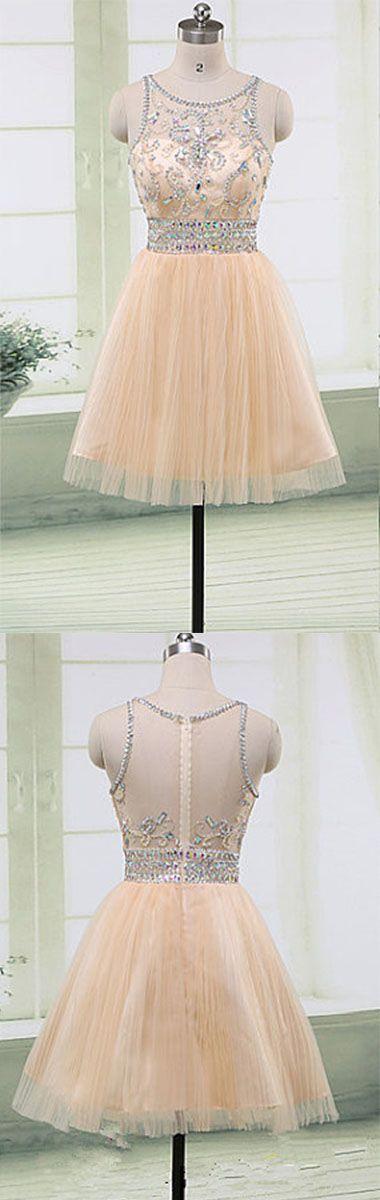 Homecoming Dress,Homecoming Dresses,Short Prom Gown,Champagne Homecoming Gowns,2016 Homecoming Dress