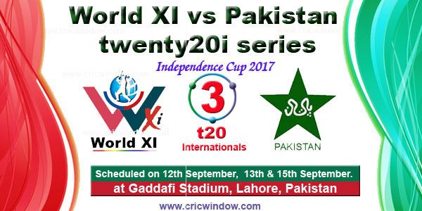 Independence Cup 2017 : Match Schedule http://www.cricwindow.com/world-xi-vs-pak-t20i-2017/fixtures.html
