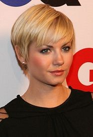 Elisha Cuthbert's pixie.  I wore short hair 10 years ago and this just might make me take the plunge again!