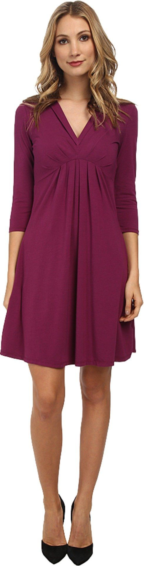 Mod-o-doc Women's Pleated Empire Waist Dress Garland