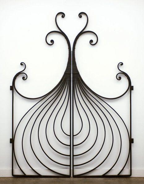Onion Gate-Garden Gate with an Onion Motif