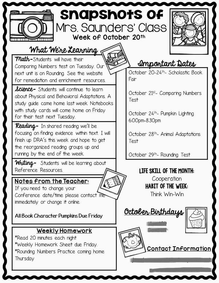 Best 25+ Class Newsletter Ideas On Pinterest | Classroom