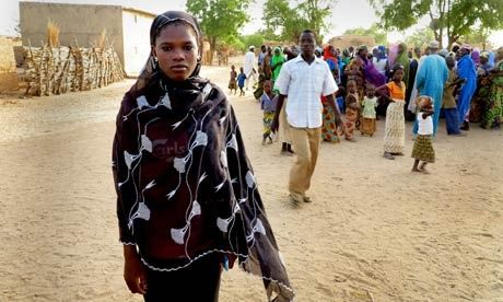 Nigerian child bride activist Zainab Oussman, 16, in Kwassaw village. At 14, she refused to marry, instead staying in school.
