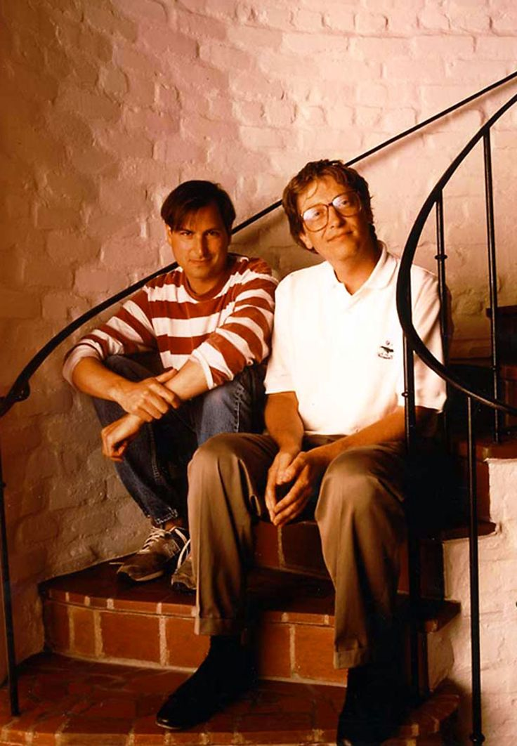 Bill Gates & Steve Jobs great inventors that changed history today
