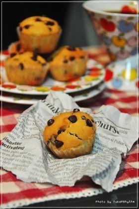 「がっつりチョコのチョコチップマフィン」yukari | お菓子・パンのレシピや作り方【corecle*コレクル】