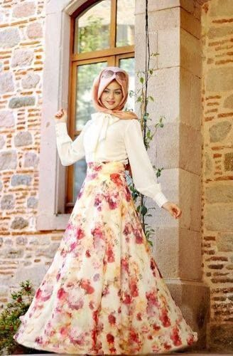Flowers...color and beauty in one skirt!