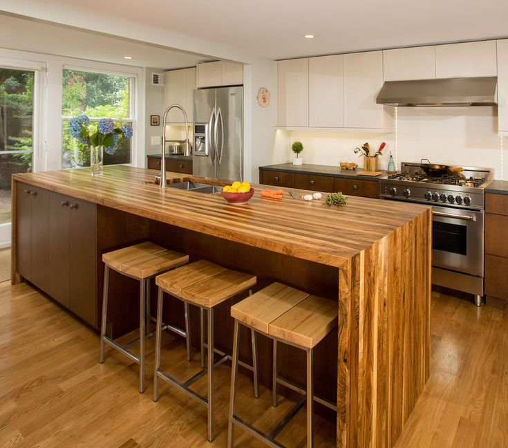 Gorgeous Kitchens With Waterfall Countertops