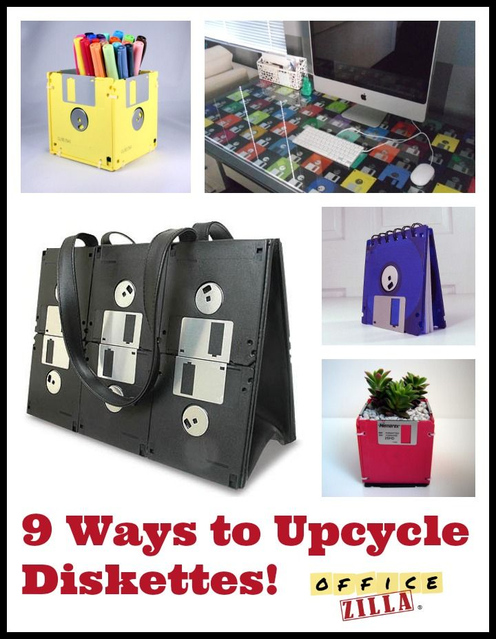 fun ideas for the office. Check Out These 9 Ways To Reuse And Upcycle Diskettes! Http://wp. Office WorksCubicleOffice SuppliesReuseFun IdeasUpcyclingDesktopTeenDesk Fun Ideas For The S