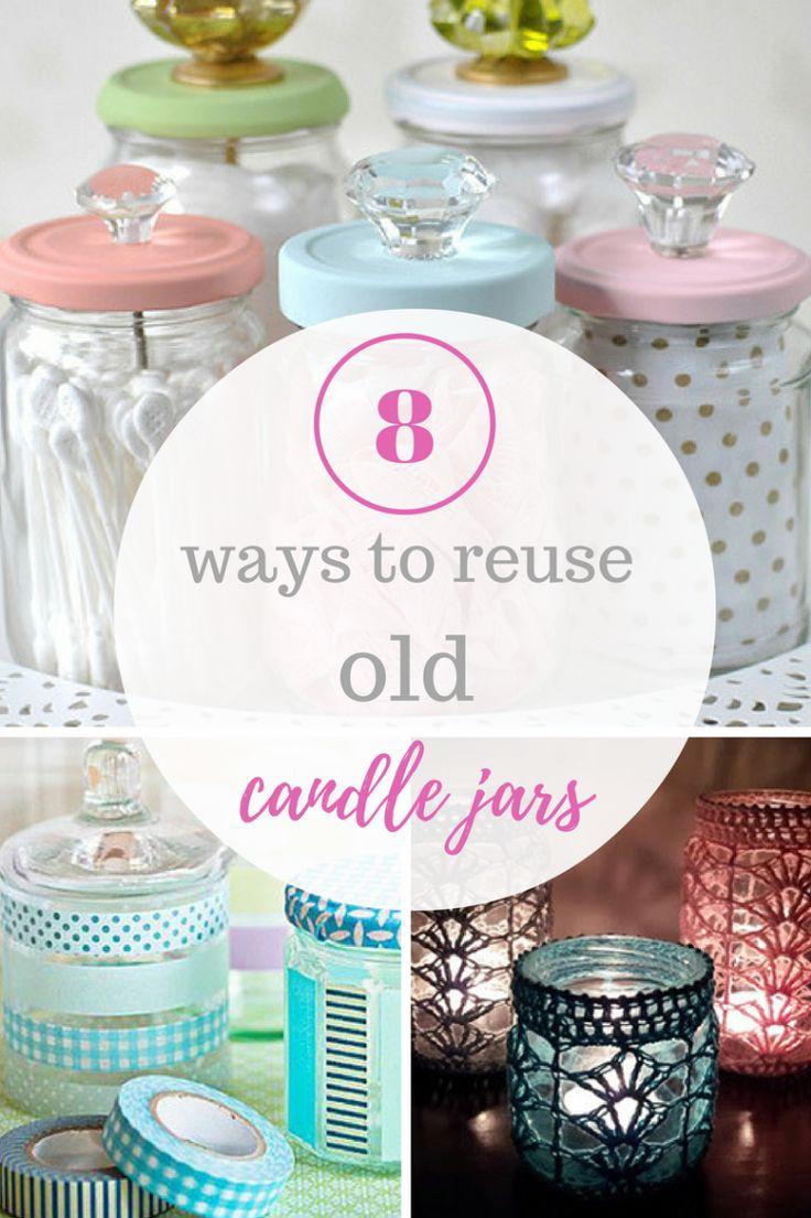 Candle Jars, DIY Candle Jars, Candle Jar Crafts, Repurpose Crafts, Reuse. #Repurpose #Craft #recycling #diy