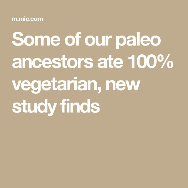Some of our paleo ancestors ate 100% vegetarian, new study finds