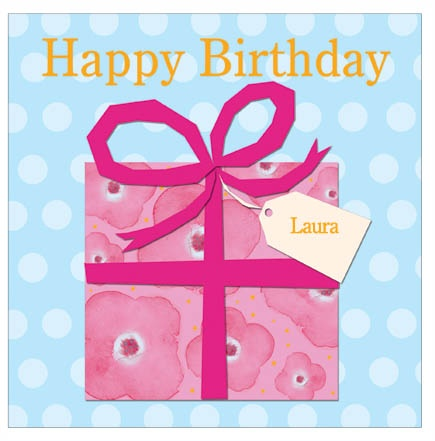 Birthday Gift - personalised individual birthday card