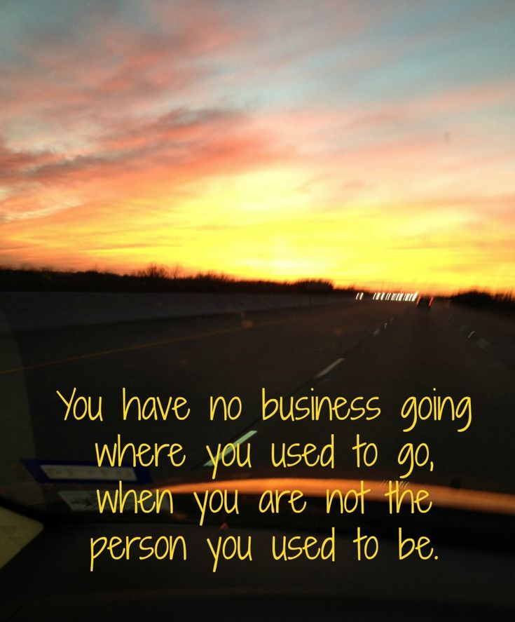You have no business going where you used to go when you are not the person you used to be. Lessons from Gideon-Priscilla Shirer