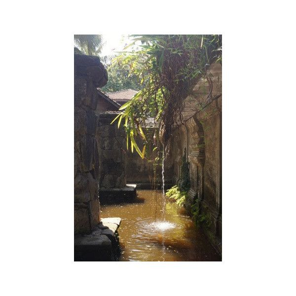 Balinese garden photography Asian garden Balinese fountain rustic... ($31) ❤ liked on Polyvore featuring home, outdoors and fountain