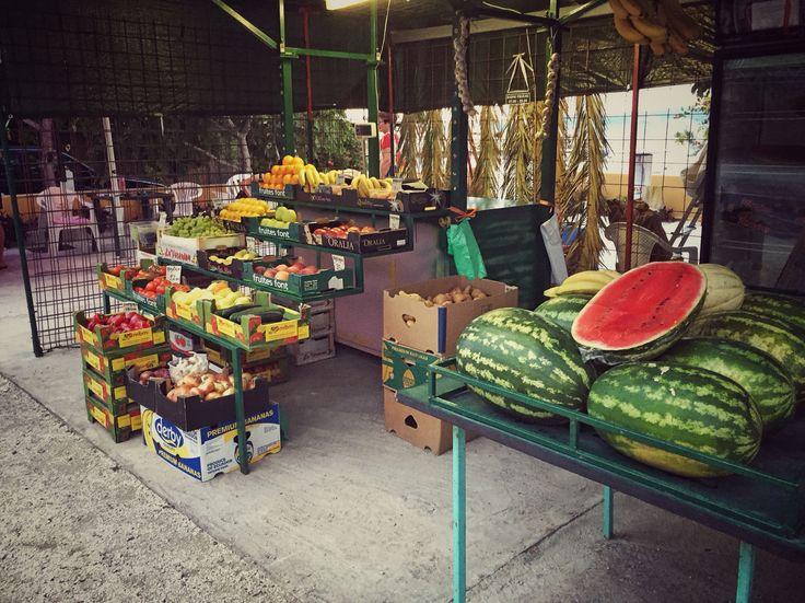 Fruit market in croatia