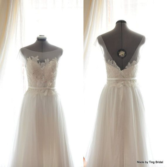 Custom Wedding GownKatie Wedding DressShort sleeves от TingBridal