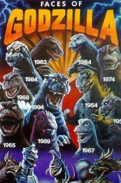 The many faces of Godzilla