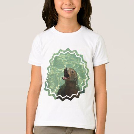 Chatty Sea Lion Girl's T-Shirt - click to get yours right now!