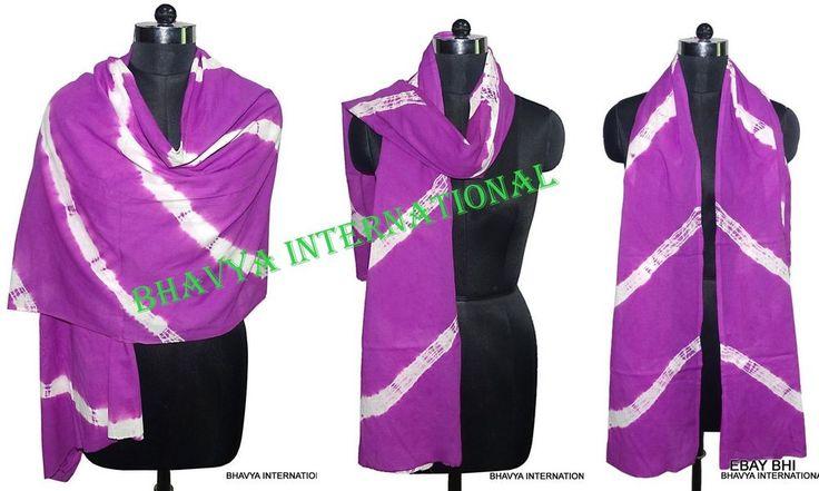 25Pc Wholesale Lot TieDye Voile Scarf Reversible Pareo Stole Purple Scarves Wrap #Handmade #Scarf #PartyWear