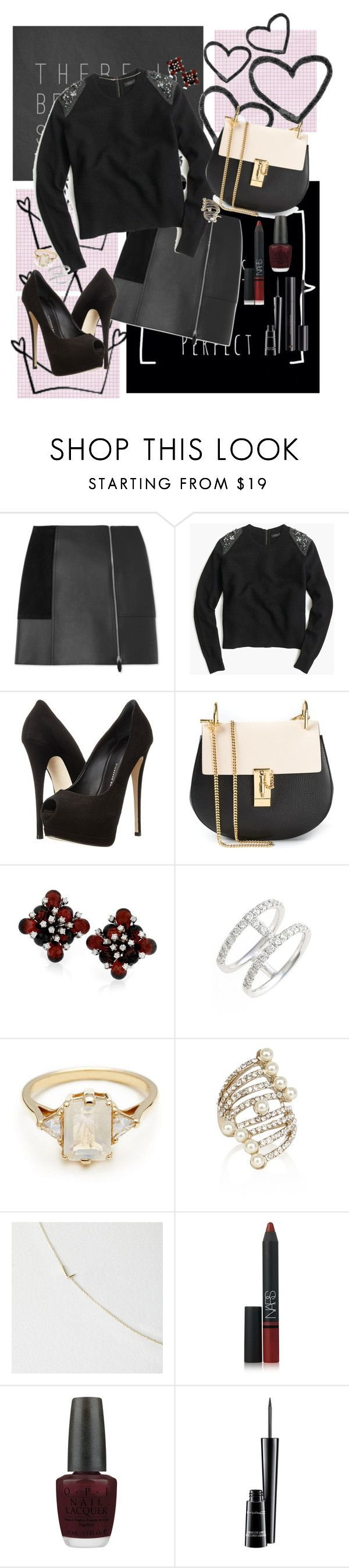 """Twisted"" by kittypom ❤ liked on Polyvore featuring Alexander Wang, J.Crew, Giuseppe Zanotti, Chloé, Bony Levy, BEA, Maya Brenner Designs, NARS Cosmetics, OPI and MAC Cosmetics"