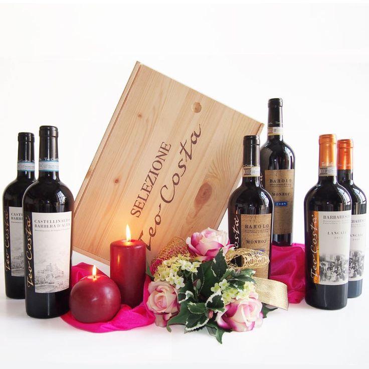 """Das sind nicht die üblichen Weine und die übliche Geschenkbox, sondern ein nobles Geschenk. Von """"Seiner Majestät"""" der Barolo, der Prinz Barbera, die preisgekrönte Barbera"""