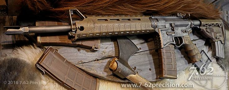Thomas H. posted this in a Faceook Group. My buddy and fellow Alaskan Dylan Saunders from 7.62 Precision made this Viking themed AR-15 This build is rather impressive. I love the modification of the Magpul handguard as well as the subtle details engraved into the polymer. Here is the description from 7.62Precision.com A .50 Beowulf … Read More …