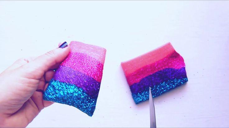 Happy 4 Glitter Slime DIY