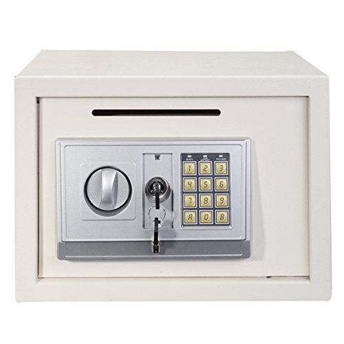 "Giantex 14"" Digital Depository Drop Gun Jewelry Home Hotel Lock Cash Safe Box (White) - http://safescenter.com/giantex-14-digital-depository-drop-gun-jewelry-home-hotel-lock-cash-safe-box-white/"
