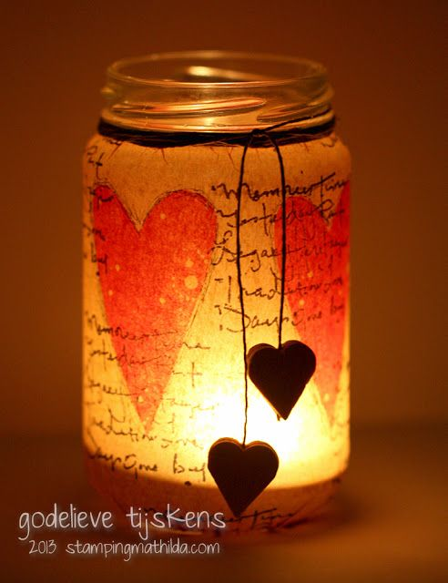 Lovely upcycled jar