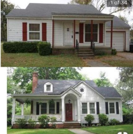 31 Ideas Farmhouse Remodel Before And After Renovation Front Porches