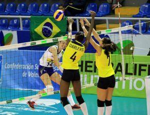Blog Esportivo do Suíço:  A seleção brasileira feminina Sub-18 manteve a invencibilidade no Sul-Americano
