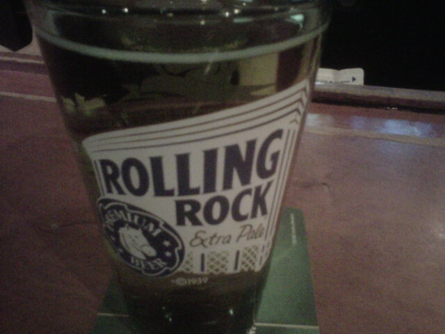 New Rolling Rock Beer Glass at Palasad North, London, Canada