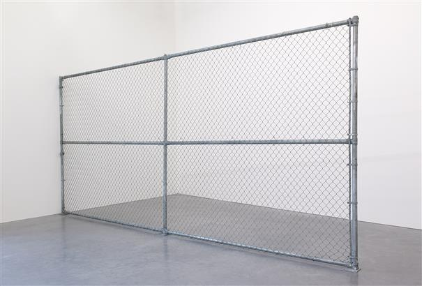 CADY NOLAND Industry Park, 1991  zinc-plated steel chain link fence 100 1/4 x 216 x 3 in. (254.6 x 548.6 x 7.6 cm.) Estimate $500,000 - 700,000