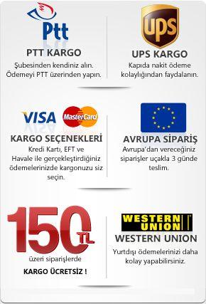 www.elektrosoktabancasi.org sitemizde PTT kargo ucreti sabittir!  150TL  ve uzeri siparislerinizde ise kargo ucreti odemezsiniz! Kisisel guvenligi alis-verisede tasidik.