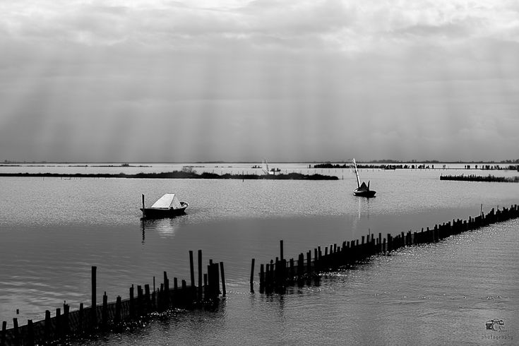 Messolongi Lagoon-Black and white