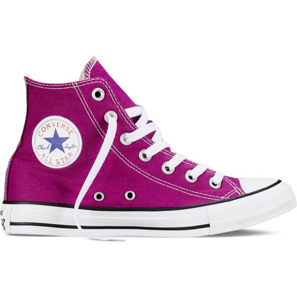 Converse Chuck Taylor All Star Fresh Colors – pink sapphire Sneakers ($60) ❤ liked on Polyvore featuring shoes, sneakers, converse, pink sapphire, converse sneakers, rubber sole shoes, high top shoes, high top trainers and star sneakers