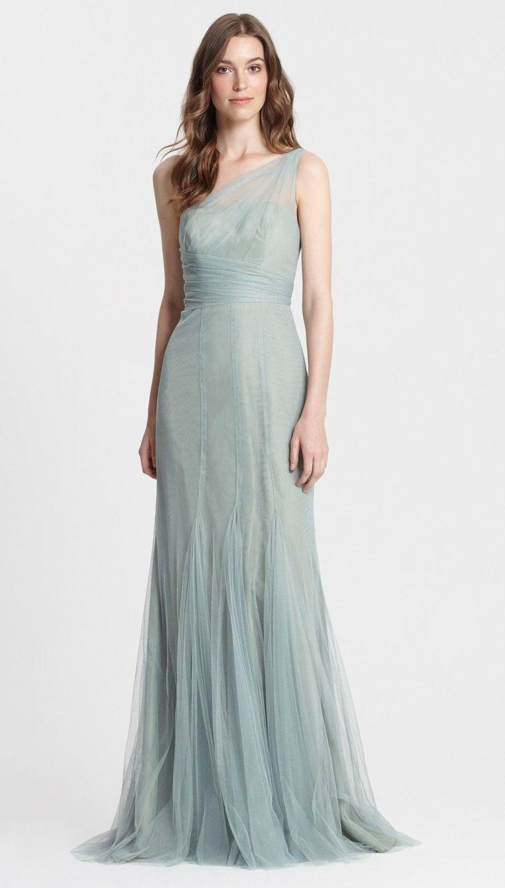 Green dress one shoulder   best Bridesmaid images on Pinterest  Monique lhuillier