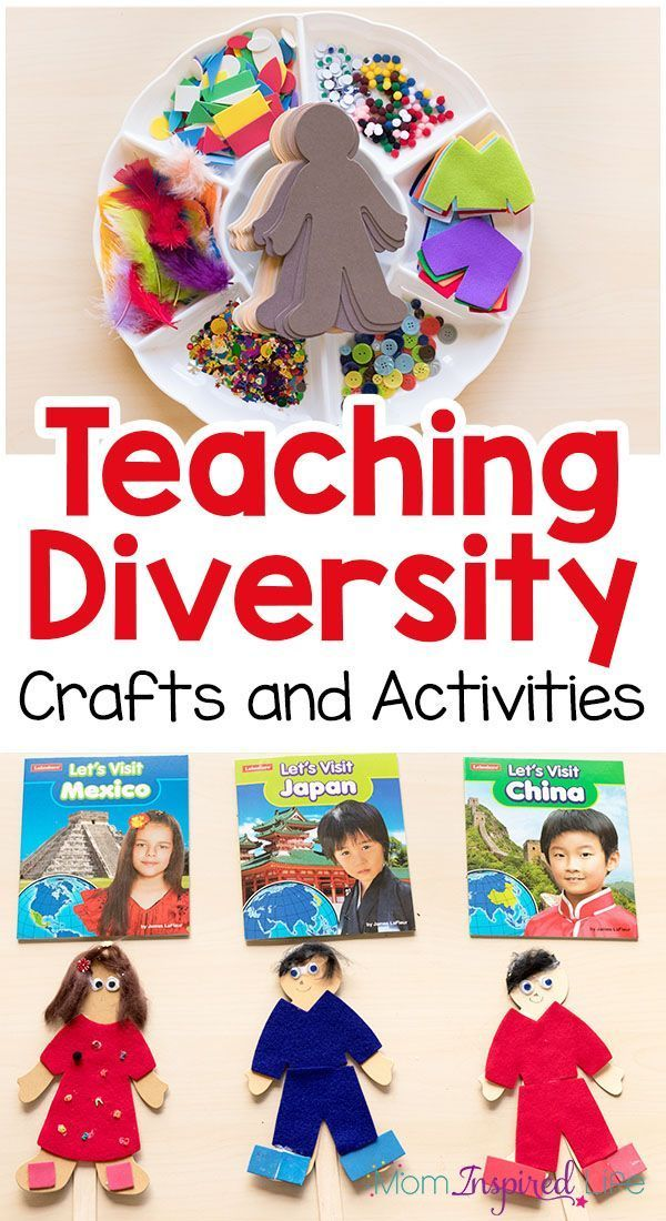 Teaching diversity to young children with crafts and activities that are fun!