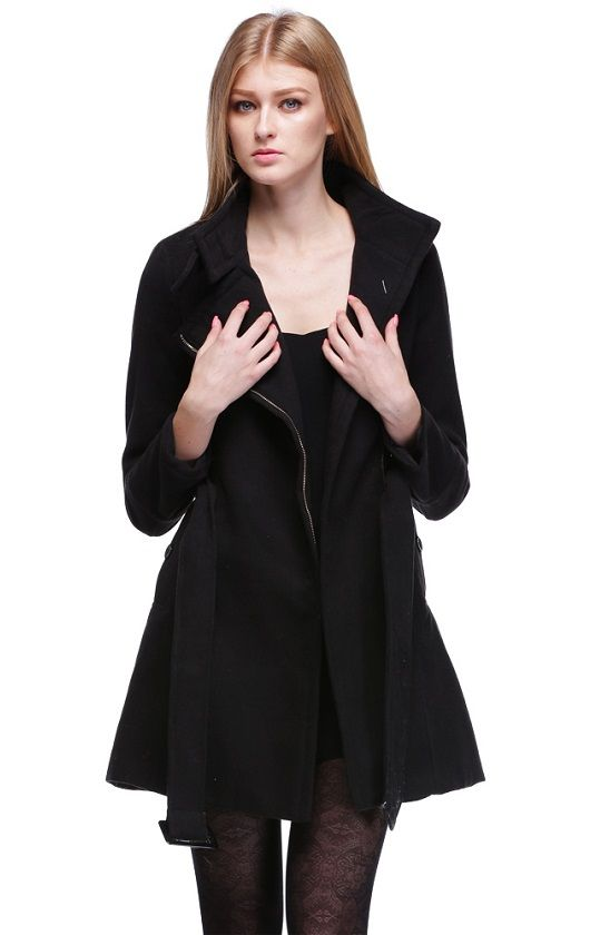 Hot Women Fashion Wool Winter Noble Long Trench Outwear Coat With Belt 3 Color_Jackets & Coats_TOPS_CLOTHING_The Latest Trends & Fashion Clothing For Women Online Store-www.dressin.com