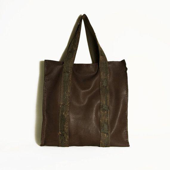 Brown tote leather bagHobo style leather by ElenaVandelliBags