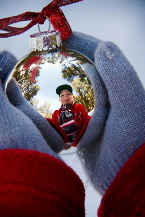Holiday photo idea. Took this photo of my son for our 2012 Christmas card.