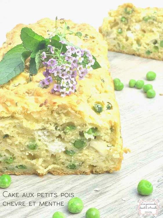 Cake aux petits pois, chèvre et menthe fraîche : la recette facile