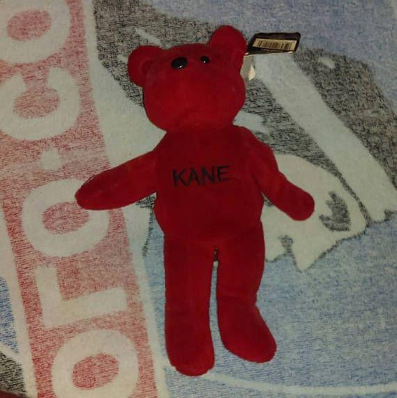 Vintage WWF Kane Beanie Baby  #WWF #WWE #90s #90skid #wrestlemania #Kane #Undertaker #beaniebaby