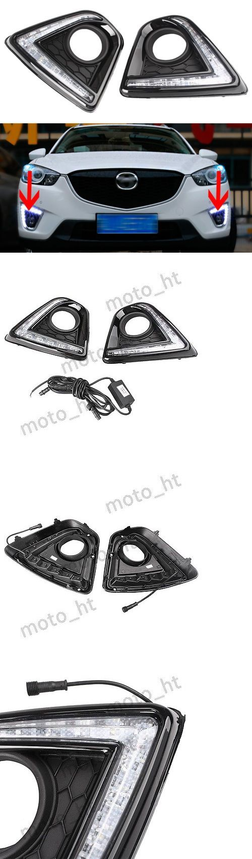 Motors Parts And Accessories: 2Pcs Led Daytime Running Fog Lamp Drl Day Light Fit Mazda Cx-5 2012-2015 -> BUY IT NOW ONLY: $56.46 on eBay!