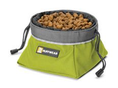 Hit the Road with Ruffwear Travel Gear, travel dog bowl. Would need the small size.