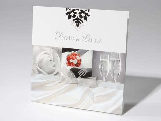 Extravagante Hochzeitseinladungen im edlen Design.