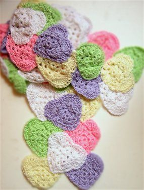 I'm thinking that individual hearts would be great for Valentine's Day gifts for my daughter's class.  I know I have the yarn, question is, do I have the time?