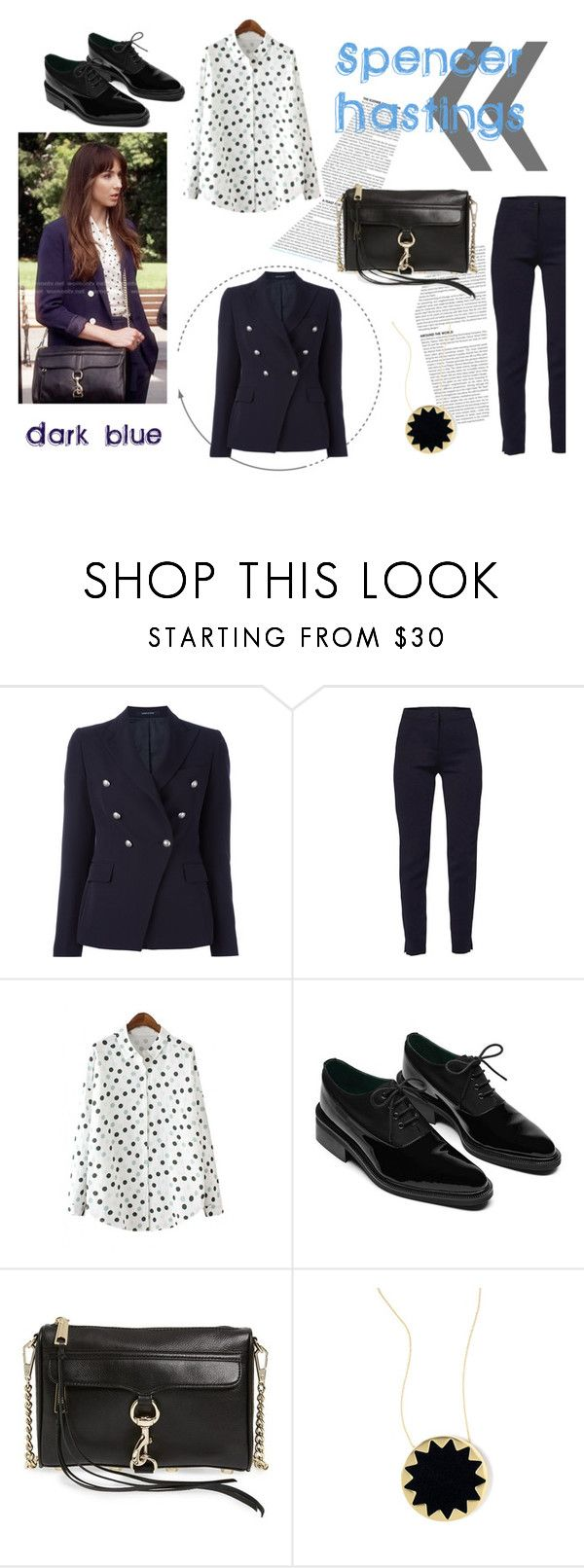 """""""Spencer Hastings.Colour #15"""" by spencer-hastings-5 ❤ liked on Polyvore featuring Tagliatore, WtR, WithChic, Oxford, Rebecca Minkoff, House of Harlow 1960 and colours"""