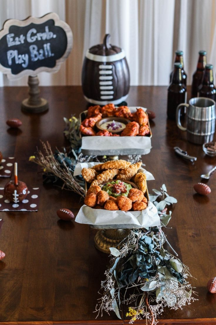 Take your homegating game to the next level with my play-by-play of epic tablescape construction. Plus find out why Tyson no antibiotics ever chicken products are my go-to savory element at all football viewing parties and grab my beer cocktail recipe, The Blonde Cinnamon.  Sponsored by Tyson Foods, Inc.  #football #party